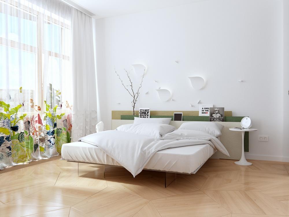 rèm phòng ngủ màu sáng