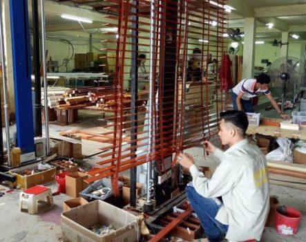 Quy trình sản xuất rèm sáo gỗ cao cấp Linh Trang