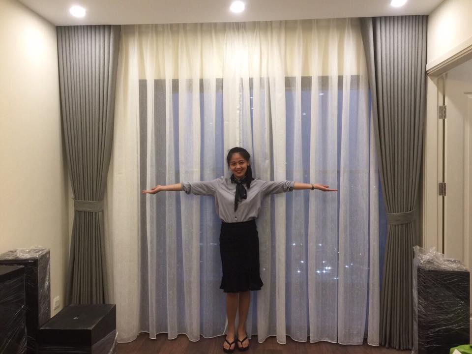 rèm vải 2 lớp linh trang RV05b