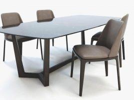 Bộ bàn ăn 4 ghế BGA05