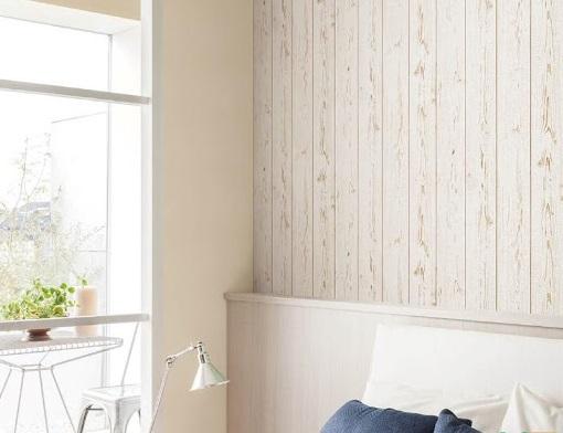 Giấy dán tường màu trắng giả gỗ