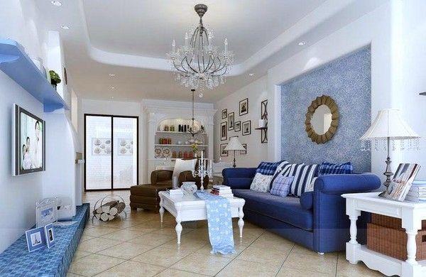Mẫu thiết kế phòng khách cho gia đình mệnh Thủy