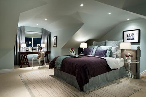 phòng ngủ gác mái đẹp