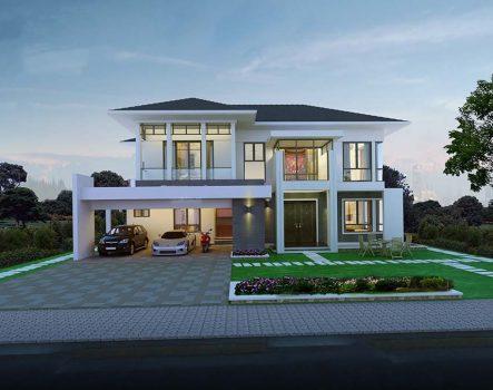 Biệt thự 2 tầng mái thái làm siêu lòng giới nhà giàu