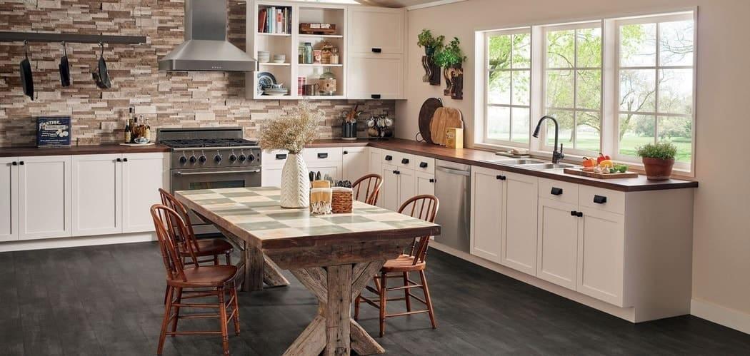 giấy giả gỗ phòng bếp