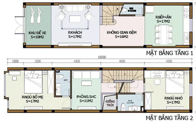 bản vẽ chi tiết nhà 2 tầng 4x12