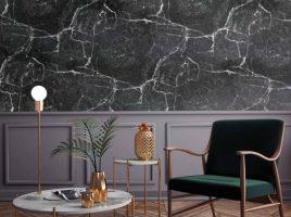 Có nên chọn giấy dán tường vân đá thay đá hoa cương?