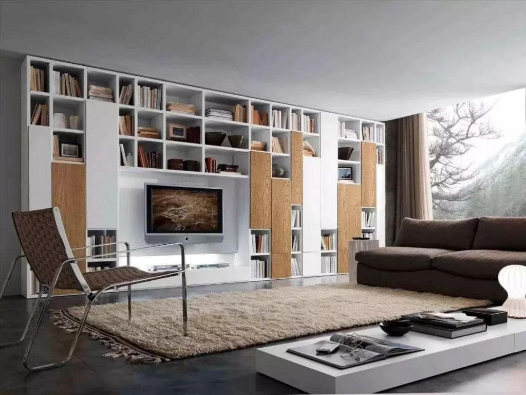 phòng khách kết hợp phòng đọc sách cho nhà ống 4m