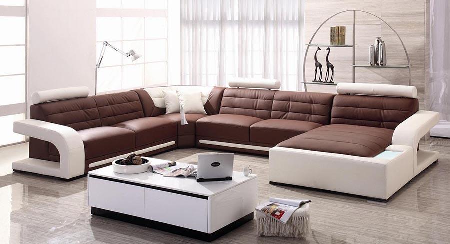 sofa màu đỏ và màu trắng