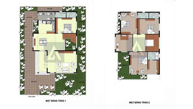 bản thiết kế nhà 2 tầng