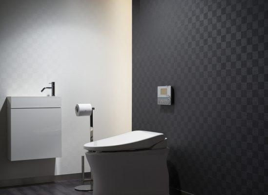 giấy dán tường phòng tắm màu đen