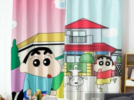 Rèm họa tiết Linh Trang HT004