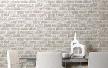 Giấy dán tường 3d giả gạch đá trang trí độc đáo cho căn nhà