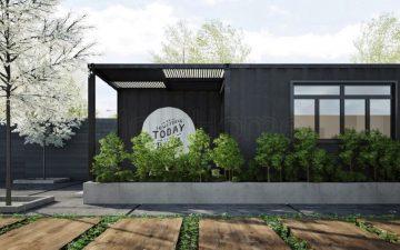 Thiết kế nội thất nhà container với nội thất hiện đại